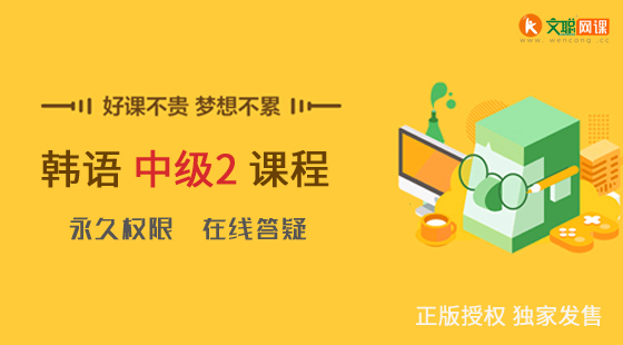 文聪网课|韩语中级2 在线学习视频课程 正版授权