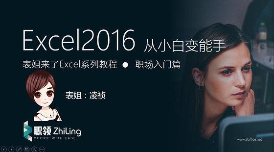 Excel2016从职场小白变能手教程-职场提升篇(level2)
