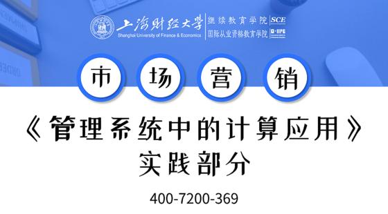 上海財經大學自考市場營銷專業課《管理系統中的計算機應用》實踐課